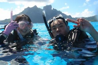 BD02:(日本人インストラクター確約)ボラボラ体験ダイビング ハネムーンパッケージ