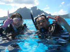 (英/仏語ガイド)ボラボラ体験ダイビング ハネムーンパッケージ