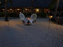《マナヴァビーチリゾートモーレア》ビーチでのROYALプライベートディナー