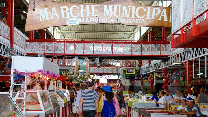 旅の最終日に立ち寄るパペーテ・マルシェ市場