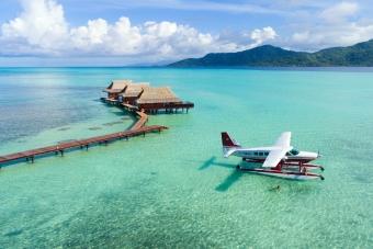BL10:OPENハート・ツパイ島 水上飛行機 上空遊覧(30分)ツアー