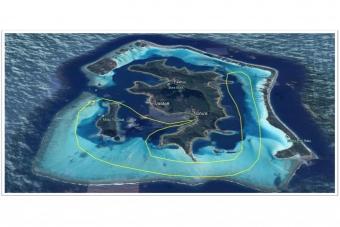 BL12:ボラボラ島・半周 ヘリコプター上空遊覧(10分)ツアー