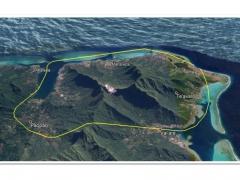 モーレア島・ヘリコプター 上空遊覧(10分)ツアー