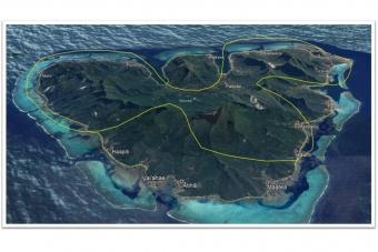 ML13:モーレア島・ヘリコプター 上空遊覧(20分)ツアー
