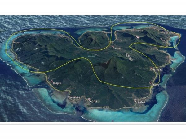 モーレア島・ヘリコプター 上空遊覧(20分)ツアー