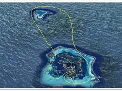 OPENハート・ツパイ島 ヘリコプター 上空遊覧(30分)ツアー