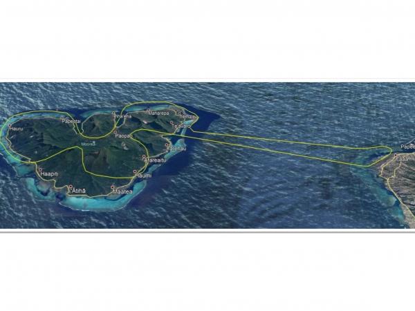 タヒチ島発着・モーレア島上空 ヘリコプター遊覧(35分)ツアー