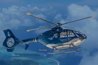 PL09:タヒチ島・ヘリコプター 上空遊覧(20分)ツアー