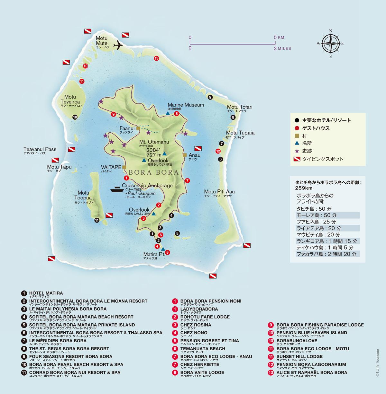 ボラボラ島マップ