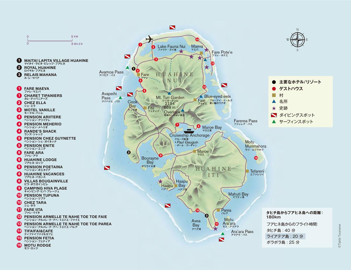 フアヒネ島マップ
