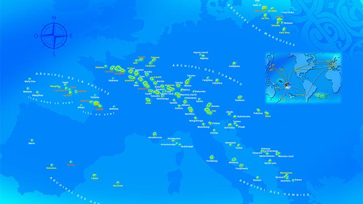 タヒチの基本情報と地図
